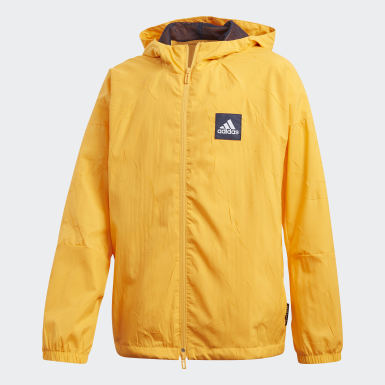 Boys Training Gold adidas W.N.D. Primeblue Jacket