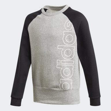Boys Lifestyle Grey Logo Crew Sweatshirt