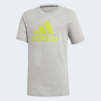 Camiseta  Badge of Sport Must Haves Gris Niño Training