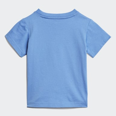 Kinder Athletics Linear T-Shirt Blau
