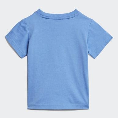 Linear T-skjorte Blå