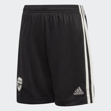 Youth 8-16 Years Football Black Arsenal Home Goalkeeper Shorts