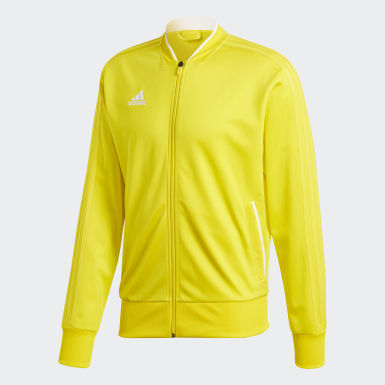 Men Football Yellow Condivo 18 Jacket