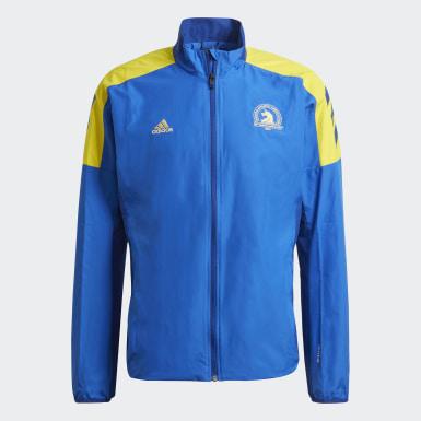 Men Running Blue Boston Marathon® Celebration Jacket