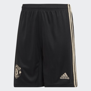 Boys Football Black Manchester United Away Shorts