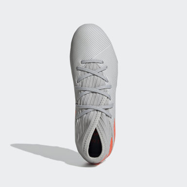 Children Soccer Grey Nemeziz 19.3 Firm Ground Cleats