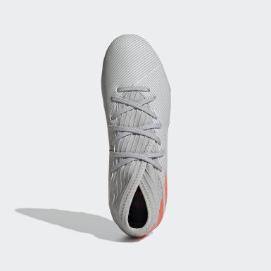 Zapatos de Fútbol Nemeziz 19.3 Terreno Firme Gris Niño Fútbol