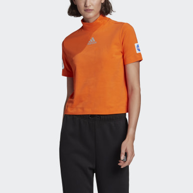 Women's Athletics Orange adidas Sportswear Crop Tee