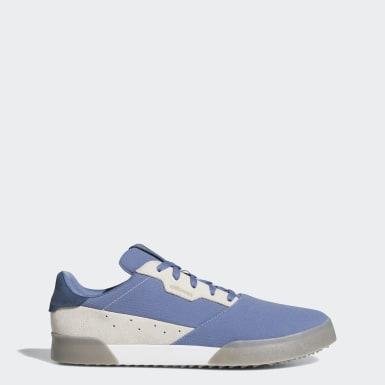 Men Golf Blue Adicross Retro Spikeless Shoes