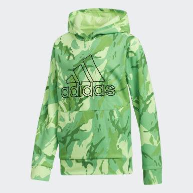Children Training Green Core Camo Hoodie
