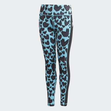 Kids Studio Turquoise AEROREADY Printed Leggings