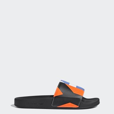 Y-3 červená Pantofle Y-3 Adilette