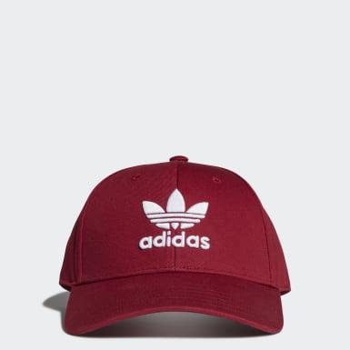 Trefoil Baseball Caps Burgendur