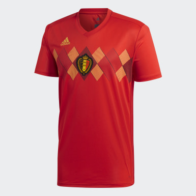 Jersey Belgium Home Rojo Hombre Fútbol