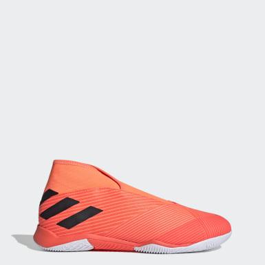 Fodbold Orange Nemeziz 19.3 Laceless indendørsstøvler
