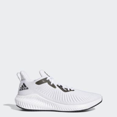 Tenis Alphabounce+ Blanco Hombre Running
