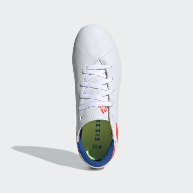 Chuteira Nemeziz Messi 19.4 Flexible Campo Branco Meninos Futebol