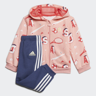 Infants Training Pink Graphic Jogger Set