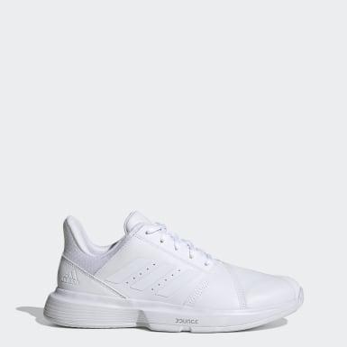 Sapatos de Ténis em Pele CourtJam Bounce – Multissuperfície Branco Ténis
