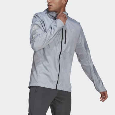 Men Running Own the Run Hooded Wind Jacket