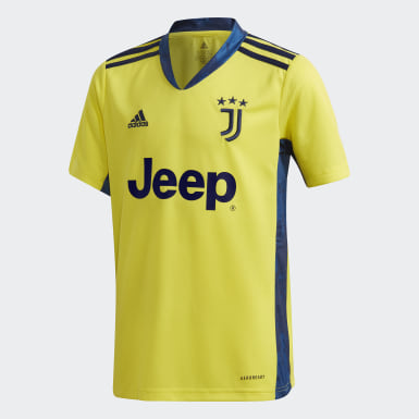 Youth 8-16 Years Football Yellow Juventus 20/21 Goalkeeper Jersey