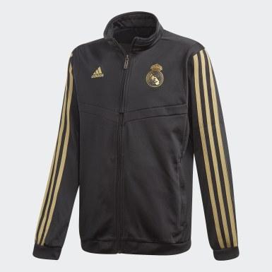 Boys Fodbold Sort Real Madrid træningsdragt