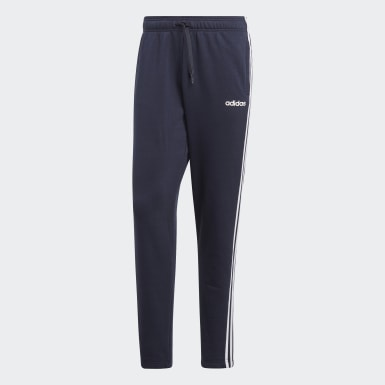 Men Athletics Blue Essentials 3-Stripes Pants