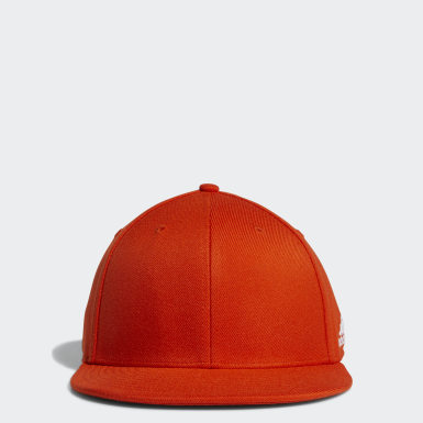 Men's Training Orange Flat Flex Hat