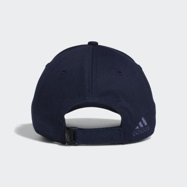 ผู้หญิง กอล์ฟ สีน้ำเงิน หมวกแก๊ปผ้าทวิล