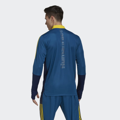 Men Football Blue Arsenal Human Race Training Top