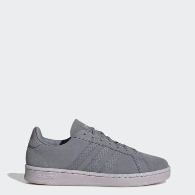 Women Tennis Grey Grand Court Base Shoes