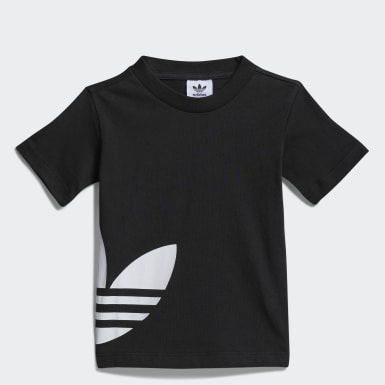 Camiseta Big Trefoil Negro Niño Originals