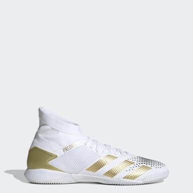Men Soccer White Predator Mutator 20.3 Indoor Shoes
