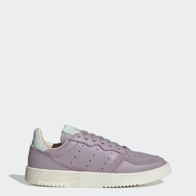 Women Originals Purple Supercourt Shoes