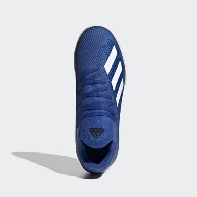 Barn Fotboll Blå X 19.3 Indoor Boots
