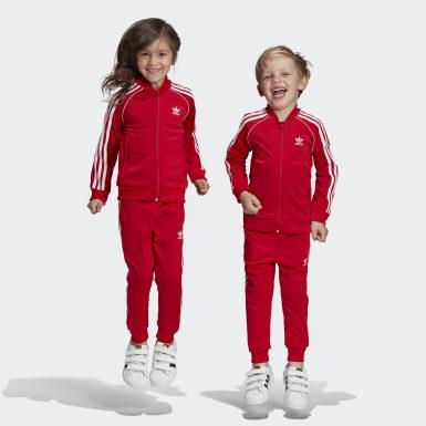 เด็ก Originals สีแดง ชุดแทร็ค SST