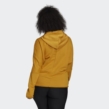 adidas Z.N.E. COLD.RDY Athletics Hoodie (Plus Size) Zloty