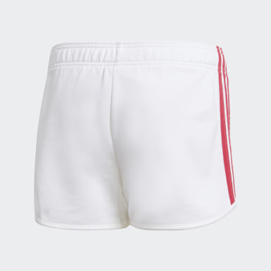 Girls Yoga White Gym Shorts