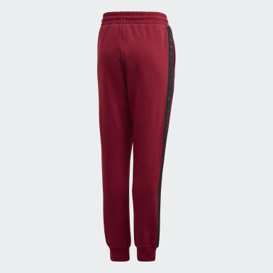 Youth 8-16 Years Originals Burgundy Tape Joggers