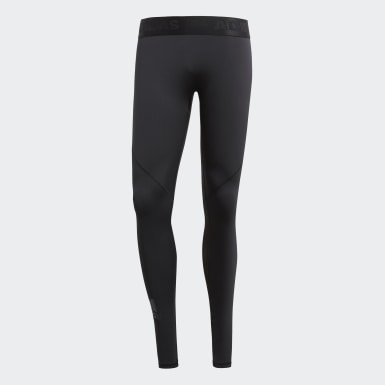 Men Training Black Alphaskin Tights