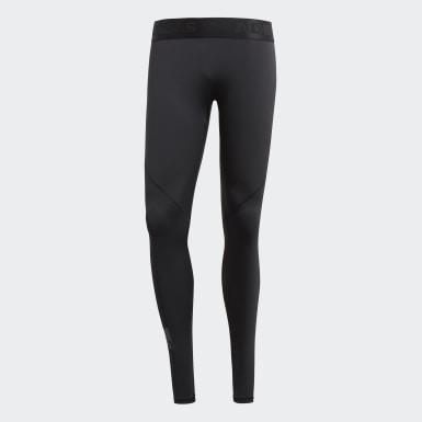 Calzas Largas Alphaskin Sport - Tiro Bajo Negro Hombre Training