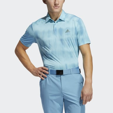 Men Golf Blue Novelty Polo Shirt