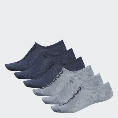 Men's Essentials Grey Superlite Linear Super-No-Show Socks 6 Pairs