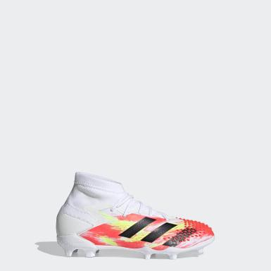 เด็กผู้ชาย ฟุตบอล สีขาว รองเท้าฟุตบอล Predator Mutator 20.1 Firm Ground