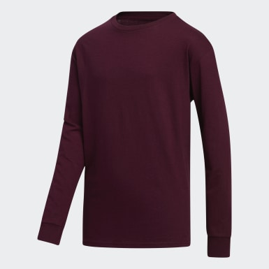 Youth Training Burgundy Y LS AMPLIFIER TEE - LICENSED