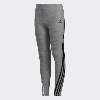Children Training Grey AEROREADY Stripe Tights