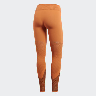 Mallas Warp Knit Naranja Mujer Training