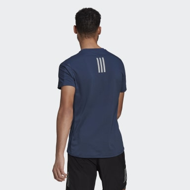 Men Running Blue Own The Run Soft Tee