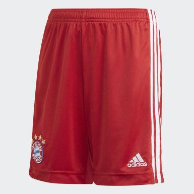 Calções Principais do FC Bayern München Vermelho Criança Futebol