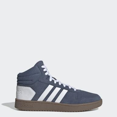 Sapatos Hoops 2.0 Mid Azul Mulher Basquetebol